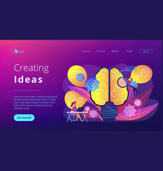 Creating ideas concept landing page vector