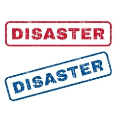 Disaster rubber stamps vector