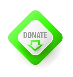 Donate Web button for charity vector