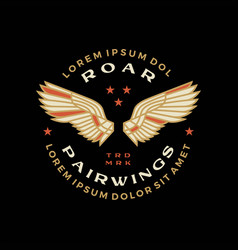 double wing badge logo icon vector image