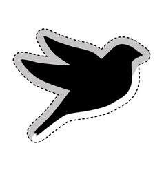 dove bird silhouette icon vector image