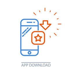 Download smartphone app - mobile application vector