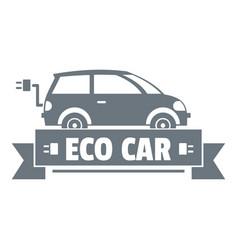 eco car logo simple gray style vector image