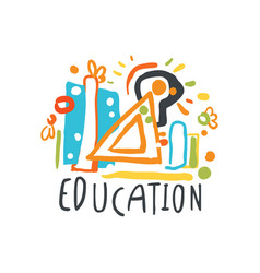 education back to school logo graphic template vector image