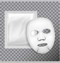 Facial mask cosmetics package package vector