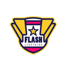flash lightning logo template company identity vector image