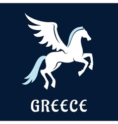Flat greece Pegasus horse icon vector