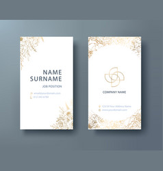 floral corporate business personal name card vector image