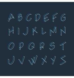 Font letters minimalistic line logo vector