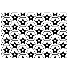 Geometric block pattern vector image