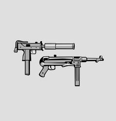 historic submachine guns vector image