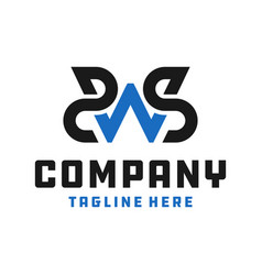 industrial business logo letter sws vector image