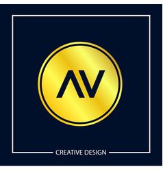 initial letter av logo template design vector image