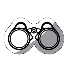 Isolated binocular design vector image