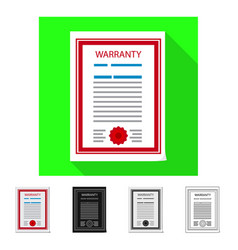 Isolated object of form and document sign set of vector