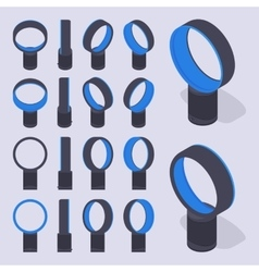 Isometric bladeless air fans vector image