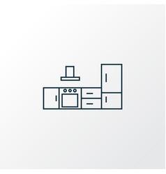 kitchen set icon line symbol premium quality vector image