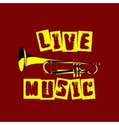 live music trumpet vector image