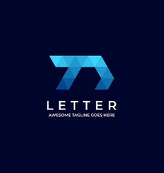 logo abstract letter low poly style vector image