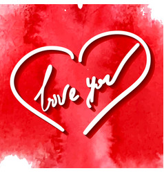 love you hand writing vector image