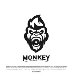 monkey gorilla esport gaming mascot logo template vector image