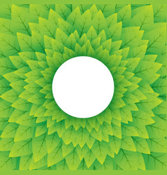 nature green circular background vector image