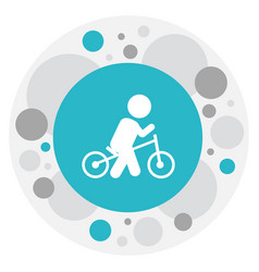 Of baby symbol on wheels icon vector