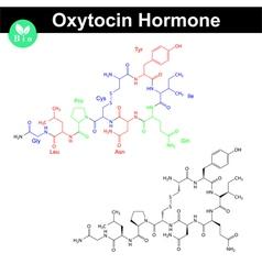 Oxytocin hormone molecule vector image