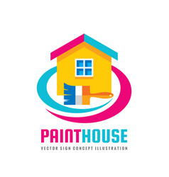 paint house - concept logo template vector image