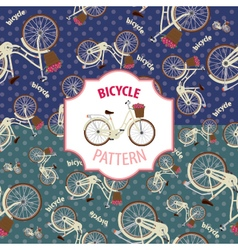 Pattern bicycle set number 1 vector image