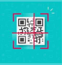 Qr code scan icon flat design symbol vector