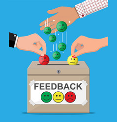 rating box reviews smiles vector image