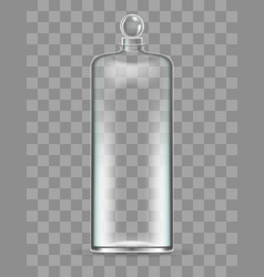 realistic and elegant glass bottle for perfume vector image