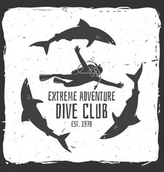 scuba diving club vector image