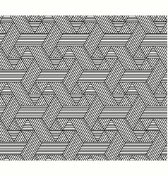 seamless hexagon pattern in rattan style vector image