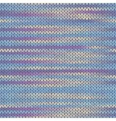 Seamless knitted melange pattern vector