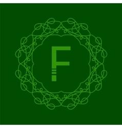 Simple Monogram F vector image