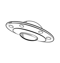 sketch ufo icon vector image