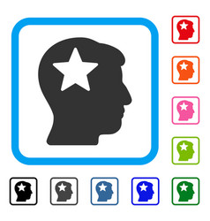 star head framed icon vector image vector image