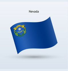 State of nevada flag waving form vector