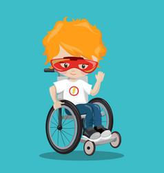Superhero in a wheelchair orange ironman 11 vector