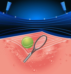 Tennis sport stadium vector