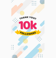 Thank you 10k followers story post background vector