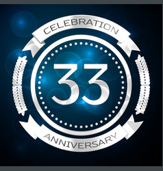 thirty three years anniversary celebration with vector image
