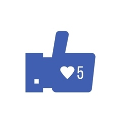 Thumbs up icon with like counter notification vector