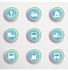 Transport buttons vector image