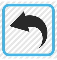 Undo Icon In a Frame vector