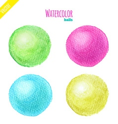 Watercolor balls vector image