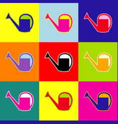 Watering sign pop-art style colorful vector
