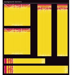 Yellow modern banners vector